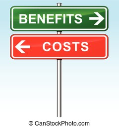benefits and costs signs