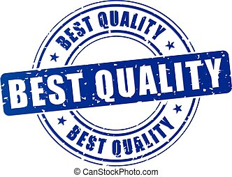 best quality stamp icon - illustration of best quality blue...