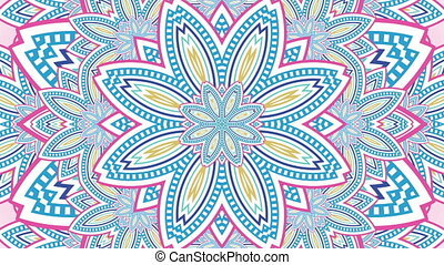 Colourful Kaleidoscopic Loop - An Abstract Colourful...