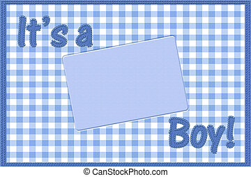 It is a boy baby announcement