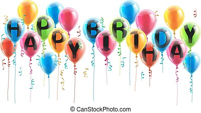 Happy Birthday Party Balloons - Party Balloons spelling out...