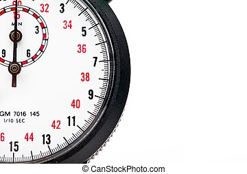 extreme close up of a stopwatch