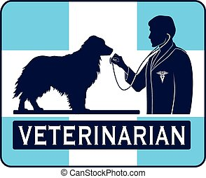 Veterinary With Dog Graphic - Illustration of a design for a...