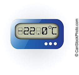 Set of web vector digital thermometer icon