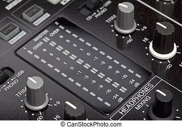 dj mixer close up