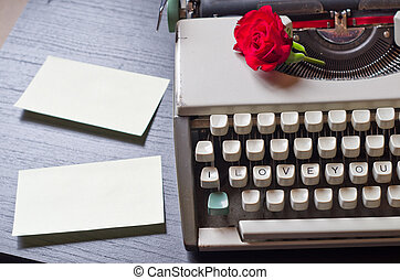 Love Letters - An old typewriter that only writes love...