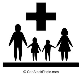isolated family medical symbol