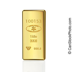 gold bar on white background