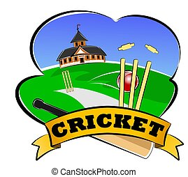 Cricket club - An illustration of cricket club and banner