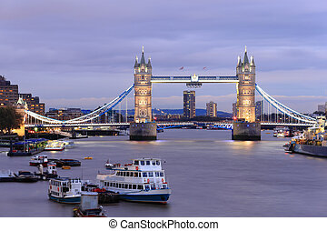 torre, Puente, en, londres,