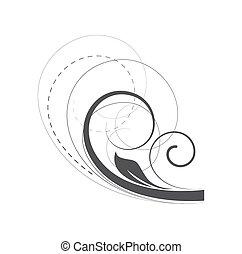 Flourish Swirl Art