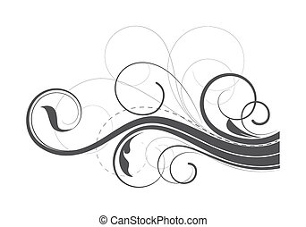 Flourish Swirl Elements - Abstract Ornate Swirl Flourish...
