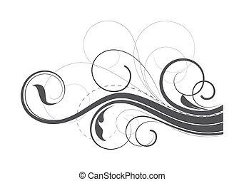 Flourish Swirl Elements - Abstract Ornate Swirl Flourish...