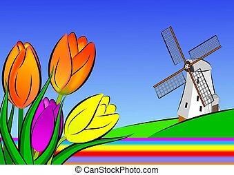 Holanda, Ilustração