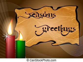 Seasons greetings - An illustration of Seasons greetings...