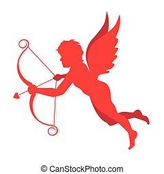 Cupido vector - cupid symbol valentine and love, vector...