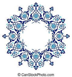 blue artistic ottoman pattern serie - Ornament and design...
