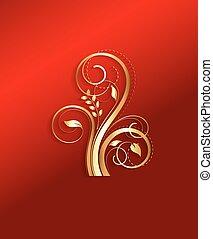 Golden Flourish Design Elements