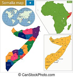 Somalia map - Administrative division of the Federal...