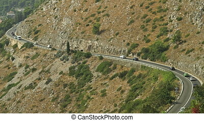 Road to Dubrovnik - Telephoto lens shot of the road to...