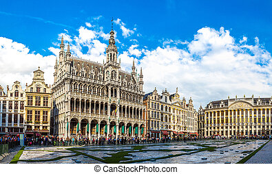 The Grand Place in Brussels - The Grand Place in a beautiful...