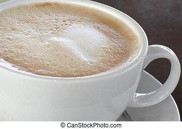 Caffe Latte - A Beautiful cup of Caffe Latte closeup