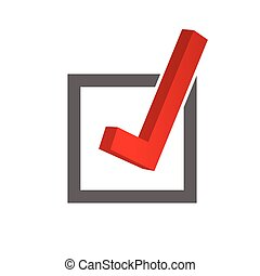 test ticking color vector illustration