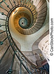 luxurious stairs - high luxurious lighthouse staircase with...