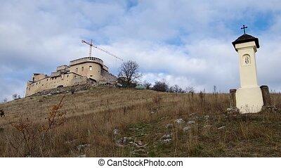 Krasna Horka Castle, Slovakia - Reconstruction work on the...