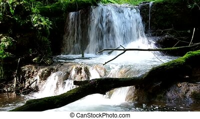 Waterfall in the National Park Slovak Karst, in the village...