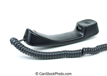Black phone handset