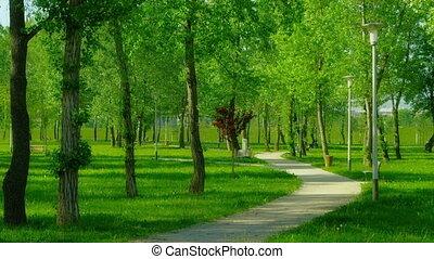 Park in the Zagreb capital of Croatia