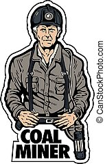 carbón, minero,