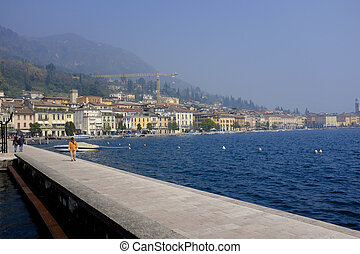 Lake Garda - View Over Lake Garda and Salò town in Italy