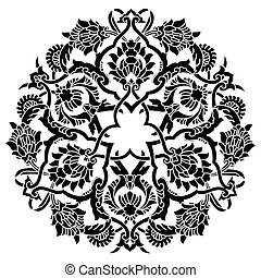 artistic ottoman pattern series fif - Ornament and design...
