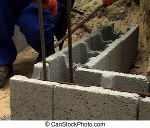 cinder block work - the cinder block work making process