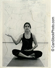 Abundance Mudrta - Art photo of female yogi in in abundance...
