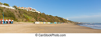 Bournemouth beach panorama UK - Bournemouth beach Dorset...