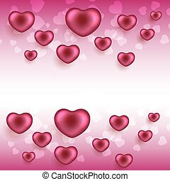 Valentine's day background with hearts. EPS10 vector.