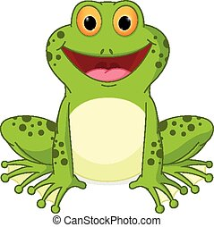 Happy Frog cartoon - Vector Illustration of Happy Frog...