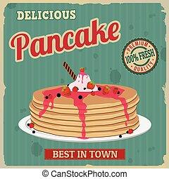 Pancake retro poster
