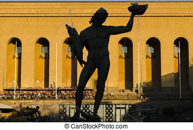 Famous statue in Goteborg - Goteborg, Sweden