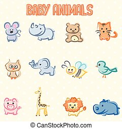 Baby animals - Beautiful and sweet illustration of animals...