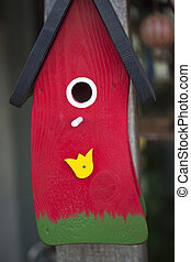 Bird house - Detail of a bird house