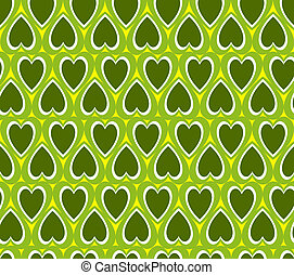 Green heart background
