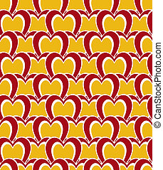 Heart tile background