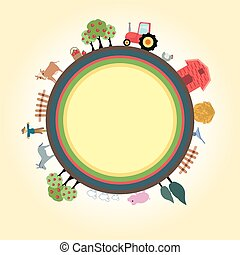 Farm for children - Beautiful farm for children colorful and...