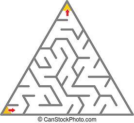 Triangle maze like pyramide