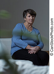 Lonely woman - Photo of sad lonely woman with depression