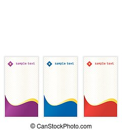 vertical business cards - Set of vertical business card...